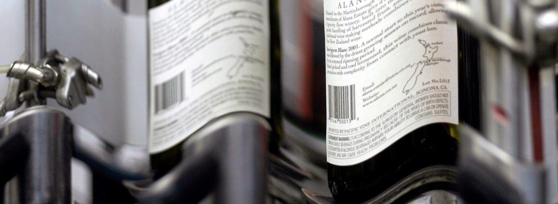 La etiqueta principal de un vino