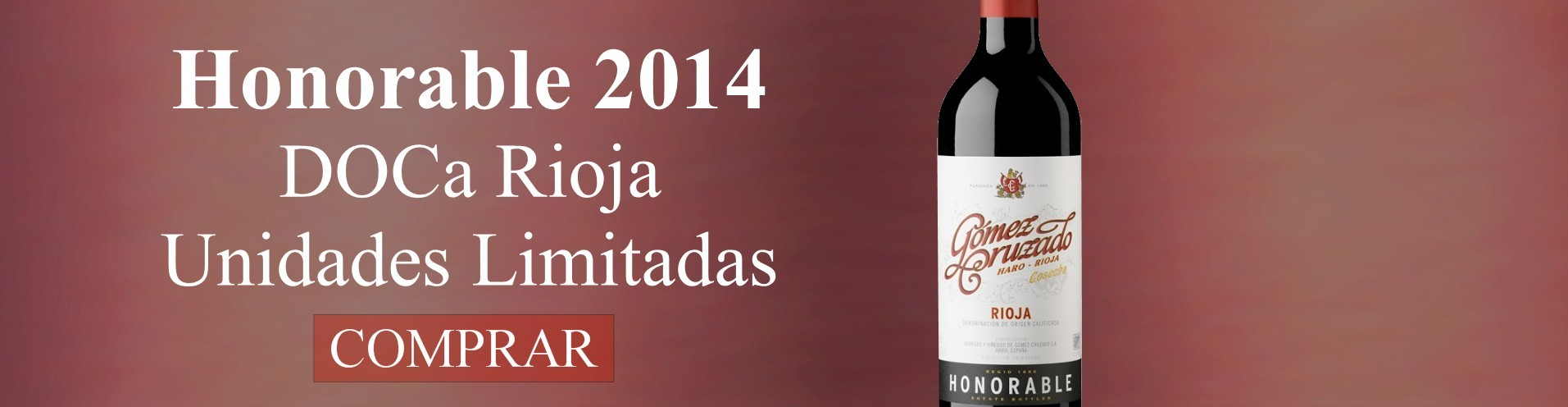 Goméz Cruzado Honorable 2014 - Vino Tinto - DOCa Rioja